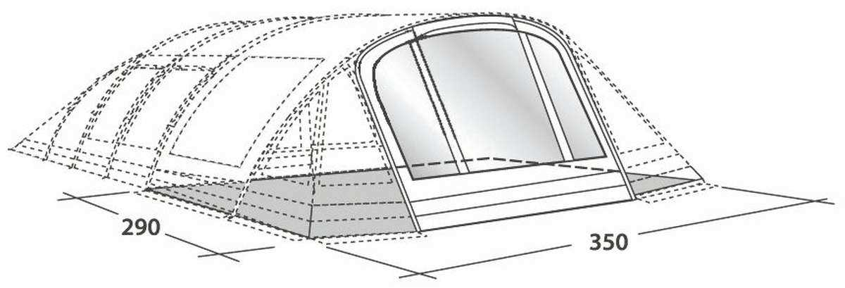 Zelt Outwell Wolf Lake 5 : Outwell wolf lake awning conversion kit leicht