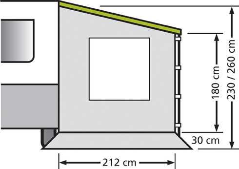 Markisenseitenteil F R Fiamma Caravanstore Mit Fenster Ebay